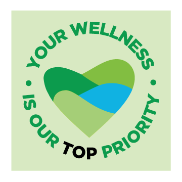 your wellness is our top priority multicolored heart